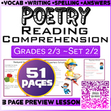 Poetry Activities | Comprehension Questions | Set 2/2 | 51