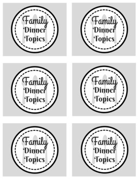 Valentine's Family Gift, Dinner Topics, Conversation Starters