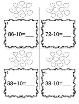 Valentine's February 1st Grade {Scoot Game/Task Cards} Math Bundle