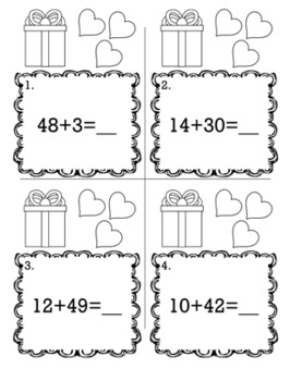 Valentine's February 1st Grade {Scoot Game/Task Cards} Math Bundle