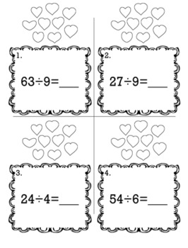Valentine's February 3rd Grade {Scoot Game/Task Cards} Math Bundle