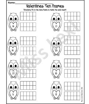 Valentine's (February) Kinder Math Packet