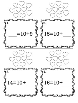 Valentine's February Kindergarten {Scoot Game/Task Cards} Math Bundle