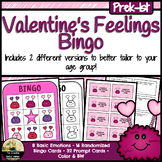 Valentine's Feelings / Emotions Bingo