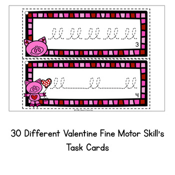 Valentine's Fine Motor Skills Task Cards