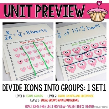Valentine's Fraction Differentiated Activities {FREEBIE}
