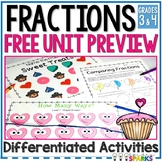 Valentine's Day Fraction Worksheets FREE (Full Fraction Unit Preview)