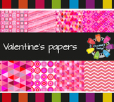 Valentine's Geometric Backgrounds