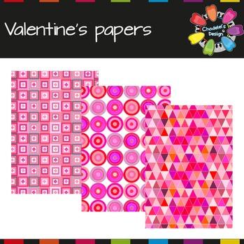 Valentine's Geometric Backgrounds