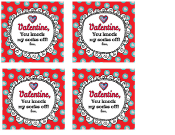 Valentine's Gift Tags FREEBIE Play-doh Socks