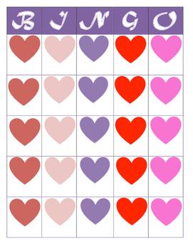 FREEBIE Blank Valentine's Heart BINGO