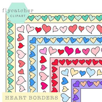 Valentine's Heart Borders Assortment