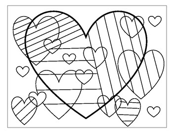 Valentine's Heart Coloring Sheet