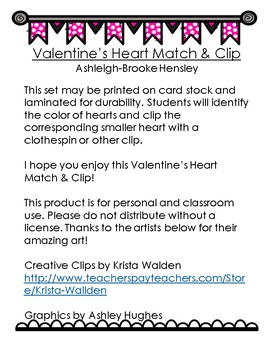 Valentine's Heart Match and Clip