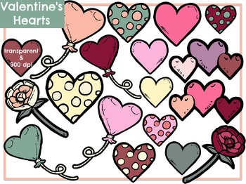 Valentine's Hearts (Digital Clip Art)