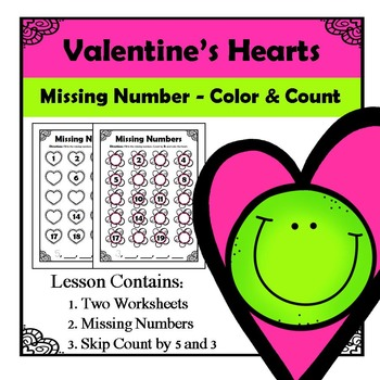 Valentine's Hearts - Missing Numbers