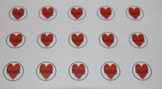 Valentine's Hershey Kiss Rhyming Matching Game - Glued Sounds