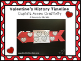 Valentine's History Timeline Cupid's Arrow Craftivity