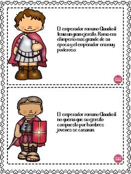 Valentine's History in Spanish
