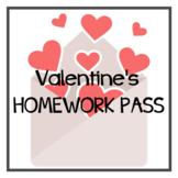 Valentine's Homework Pass