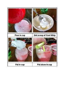 Valentine's Ice Cream Float Visual Cooking Recipe FREEBIE