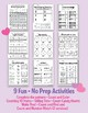 Valentine's Kindergarten Activities - Math | Counting | Time | Patterns  No Prep
