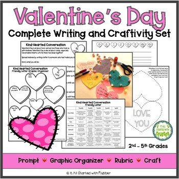 Kindhearted Valentine Writing and Craftivity Set