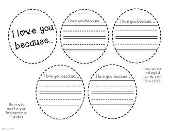 Valentine's LOVE Craftivity