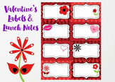 Valentine's Labels and Lunch Notes