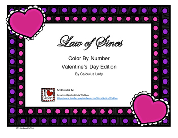 Valentine's - Law of Sines - Color By Number