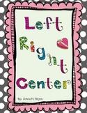 Valentine' s Left Center Right