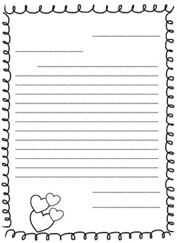 Valentine's Letter Template