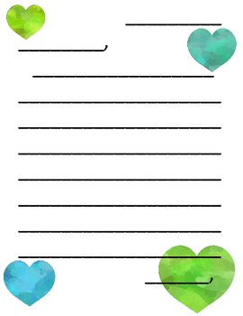 Valentine's Letter Writing Template