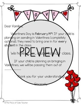 Valentine's Letter to Parents