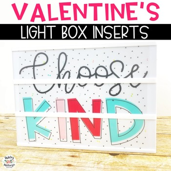 Valentine's Light Box Inserts- Heidi Swapp or Leisure Arts
