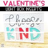 Valentine's Light Box Inserts- Heidi Swapp or Leisure Arts