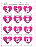 Valentine's Line or Space musical Worksheet