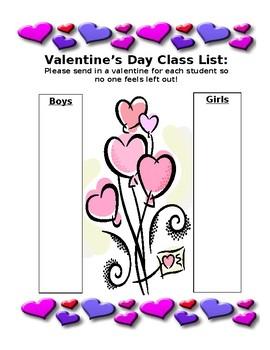 Valentine's List