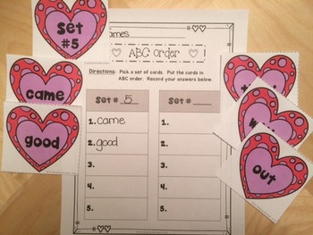 Valentine's Day Literacy Centers