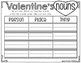 Valentine's Literacy Stations {10 Stations in Color and Black & White}
