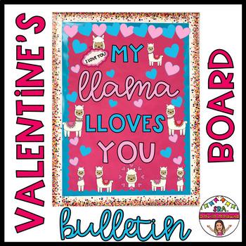 Valentine's Llama Bulletin Board - English ONLY