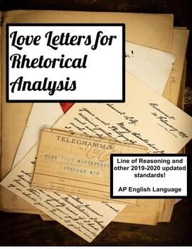 Valentine's Love Letter Rhetorical  Activities, rhetoric exit tickets, writing