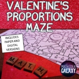 Valentine's Proportions Activity- Maze