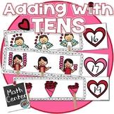 Valentine's Math Activity - Adding on to 10 Center KINDERGARTEN & 1st Grade