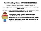 Valentine's Math Center Bundle