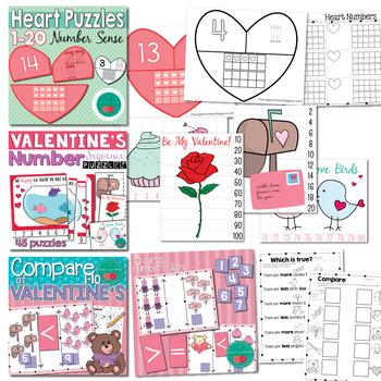 Valentine's Math Centers Bundle