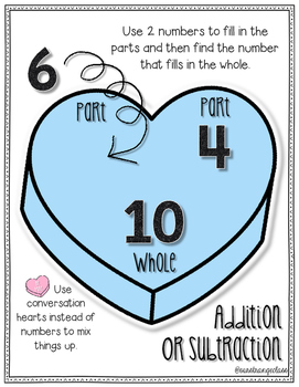 Valentine's Math: Decomposing Numbers - Number Bonds