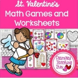 Valentine's Math Games for Gr. 1, 2.  Friendly numbers, Add, Subtract, Multiply!