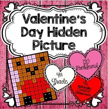 Valentine's Math Hidden Picture for 4th Grade