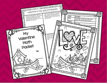 Valentine's Math Pack for 4th Grade FREE sample